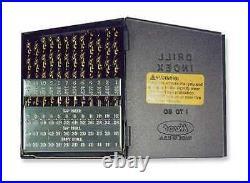 CHICAGO-LATROBE 57853 Jobber Drill Set, 60 pc, Cobalt