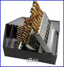 CHICAGO-LATROBE 69870 29pc. Cobalt 1/16 to 1/2 135 Deg. Jobber Drill Bit Set