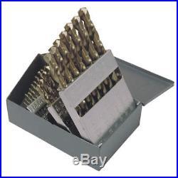 CHICAGO-LATROBE Jobber Drill Set, 29 pc, Cobalt, 47796