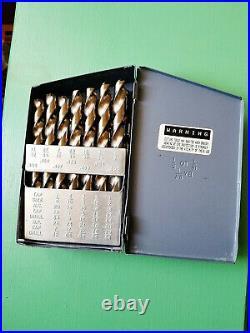 CLEVELAND C70365 Jobber Drill Set 29pc Cobalt Heavy Duty 1/16 1/2 with Box USA