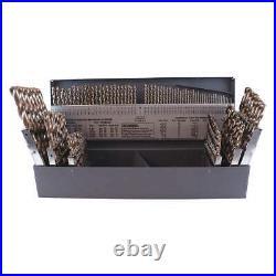CLEVELAND C70367 Jobber Drill Set, 115 pc, Cobalt