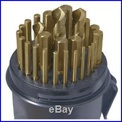 CLE-LINE C10629 Jobber Drill Bit Set, Cobalt Steel
