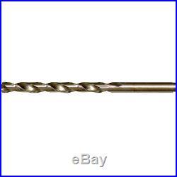 CLE-LINE Cobalt 15-Pack Split Point Tip with Round Shank Twist Drill Bit Set