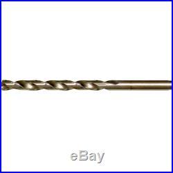 CLE-LINE Cobalt Finish 60-Pack Split Point Tip Geometry Twist Drill Bit Set