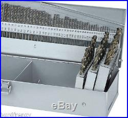 COBALT 115 PC. PREMIUM DRILL BIT SET AGGRESSIVE 135 DEGREE SPLITCUT WithSTEEL CASE