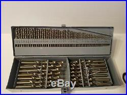 COMOWARE 115Pcs Cobalt Twist Drill Bit Set M35 Jobber Length with Storage Box