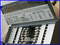 C-056, Hertel, Cobalt Drill Bit Set, Bright Finish, Letter, Number, Fractional