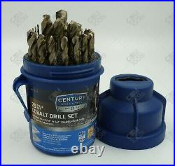 Century Drill & Tool 26529 29pc Pro-Grade Cobalt Drill Pod Set MADE IN USA