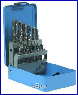 Century Drill and Tool 26115 Cobalt High Speed Steel Drill Bit Set, 15-Piece