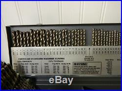 Chicago-Latrobe 135° Point Gold Finish Cobalt Jobber Length Drill Bit Set 46650