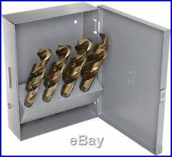 Chicago Latrobe 190C Cobalt Steel Shank Drill Bit Set Metal Case Gold Oxide