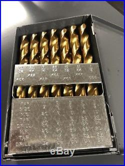 Chicago Latrobe 2550 Series Cobalt Steel Jobber Length Drill Bit Set With Metal