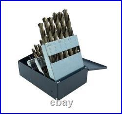 Chicago Latrobe 47925 1 mm-13 mm Gold Oxide Cobalt Twist Drill Bit Set 25Pc