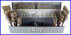 Chicago-Latrobe 550 115 Piece H-Duty Cobalt Steel Jobber Length Drill Bit Set