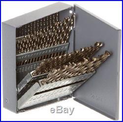Chicago Latrobe 550 Series Cobalt Steel Jobber Length Drill Bit Set with Metal