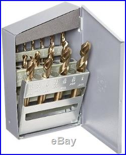 Chicago Latrobe 559 Series Cobalt Steel Short Length Drill Bit Set In Metal Case