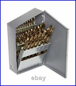 Chicago Latrobe 57850 550 Series Cobalt Steel Jobber Length Drill Bit Set wit