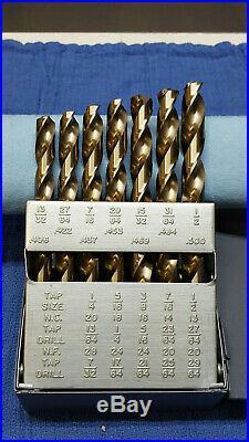 Chicago Latrobe Cobalt Drill Bit Set Jobber Length Style 550