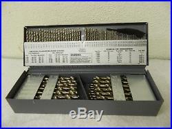Chicago-Latrobe Cobalt Jobber Length Drill Bit Set 1/16 1/2 135° Point 46650