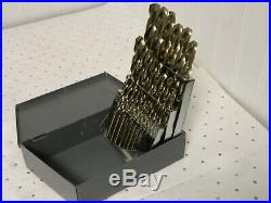 Chicago-Latrobe Cobalt Jobber Length Drill Bit Set 1 to 13mm 135° Point 54127