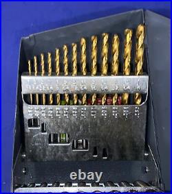 Chicago Latrode Titanium Nitride Coated Cobalt Drill Set 69860