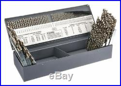 Chicago-latrobe 115 Pc Jobber Drill Bit Set, Cobalt Steel, StrawithBronze 46650