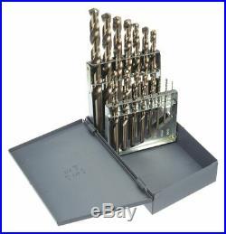 Chicago-latrobe 15 Pc Jobber Drill Bit Set, Cobalt Steel, StrawithBronze 57852