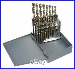 Chicago-latrobe 21 Pc Jobber Drill Bit Set, Cobalt Steel, StrawithBronze 69887