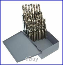 Chicago-latrobe 26 Pc Jobber Drill Bit Set, Cobalt Steel, StrawithBronze 69886