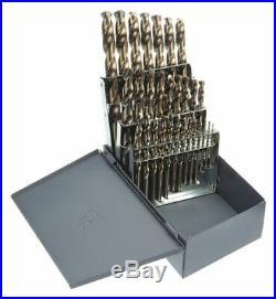 Chicago-latrobe 29 Pc Jobber Drill Bit Set, Cobalt Steel, StrawithBronze 57850
