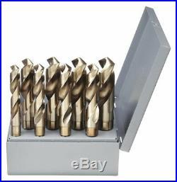 Chicago-latrobe 8 Pc Reduced Shank Drill Bit Set, Cobalt Steel, StrawithBronze