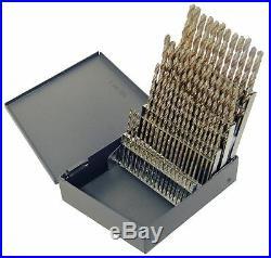 Chicago-latrobe Screw Machine Drill Bit Set, #60-#1, Cobalt Steel, StrawithBronze