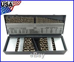 Cle Line 115pc COBALT M42 Drill Bit Set Number Letter Jobber 1/16 to 1/2 USA