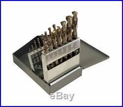 Cle-Line C21112 135 Degree Heavy-Duty Cobalt Jobber Length Drill Set in Metal
