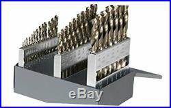 Cle-Line C21121 135 Degree Heavy-Duty Cobalt Jobber Length Drill Set in Metal Ca