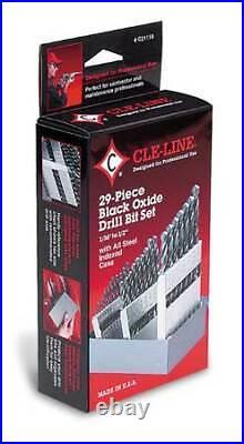 Cle-Line C21121 Jobber Drill Set, 29 Pc, Co, 135 Deg