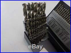 Cle-Line C21129 135 Degree Cobalt Jobber Length Drill Set in Metal Case, 110 Pc