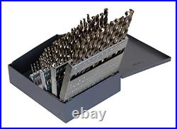 Cle-line C21125 135 Degree Heavy-Duty Cobalt Jobber Length Drill Set in Metal 60