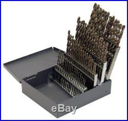 Cleveland C70366 60 Piece M42 Cobalt Heavy Duty Jobber Length Drill Bit Set
