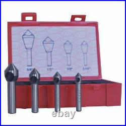 Cleveland C94589 Countersink/Deburring Tool Set, 4 Pieces