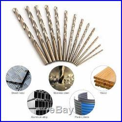 Cobalt Drill Bit Set- 115 Pcs M35 High Speed Steel Twist Jobber Length