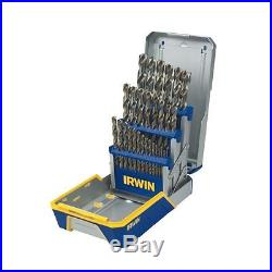 Cobalt Drill Bit Set High-Speed Steel 29-piece Metal Index Set Irwin Tools NEW