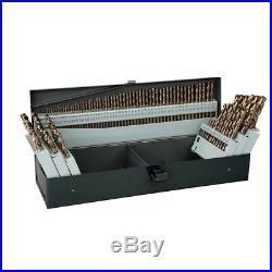 Cobalt Drill Bit Set, Metal Storage Case, Last Longer, Cut Faster, 115 Pc