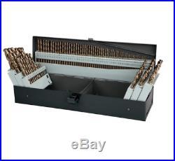 Cobalt Drill Bit Set Metal Storage Case Last Longer Cut Faster 115 Pc Tools NEW