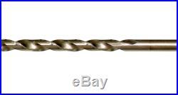 Cobalt Finish 115-Pack 135 deg Spplit Point Tip Round Shank Twist Drill Bit Set