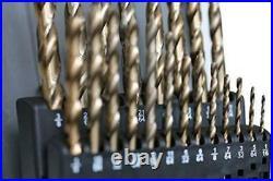 Cobalt M35 Imperial Drill Kit By Ttp Hard Drills 21 Piece Drill Bit Set 1/16
