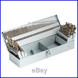 Cobalt Twist Drill Bit Set-115 Pcs M35 Jobber Length with Metal Storage Case