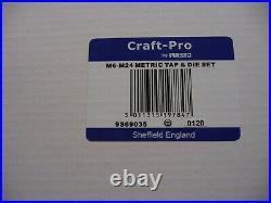Craft Pro by PRESTO M6-M24 Tap & Die Set & ARS Cobalt 1mm-13mm x 0.5mm left hand