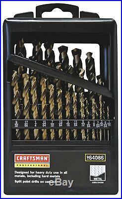 Craftsman 964086 Drill Bits Professional Cobalt 1/16 to 1/2 Set of 29