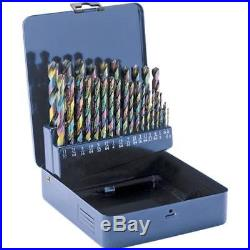 D2140 Cobalt Alloy Drill Bits 1/16 1/2, 29 pc. Set